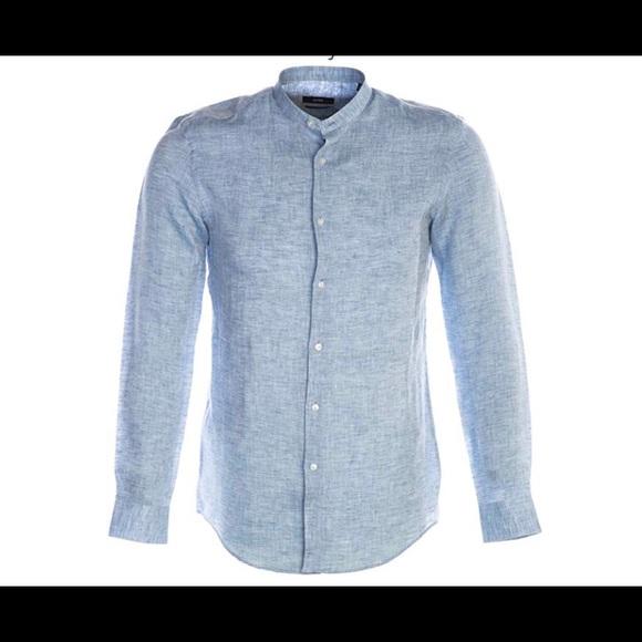 a112f387c Hugo Boss Shirts   Jordi Linen Light Blue Mens Button Down   Poshmark